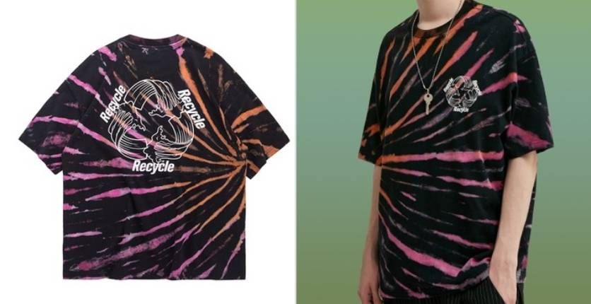 Twenty Eight Shoes Trend tie-dyed short T-shirt