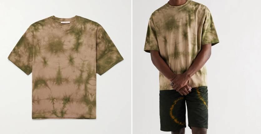 Acne Studios Kohto oversized printed tie-dyed cotton-jersey T-shirt