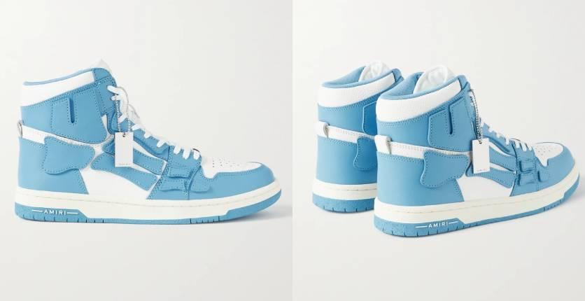 Amiri Skel-Top colour-block leather high-top sneakers