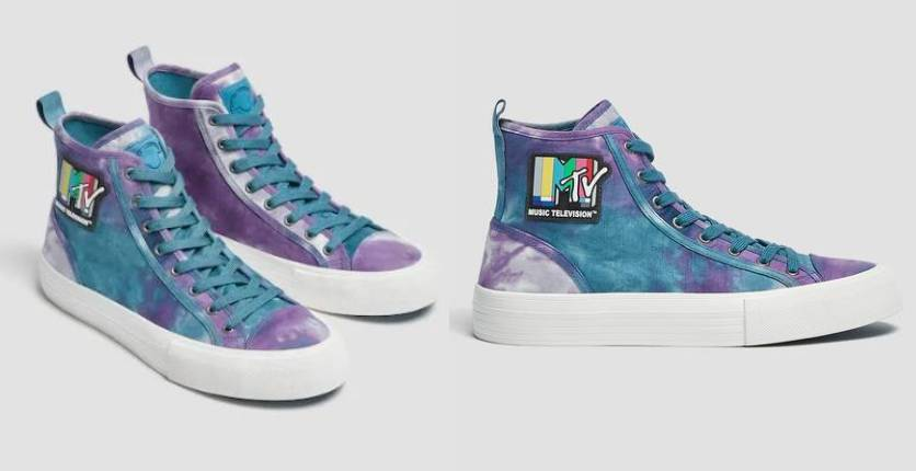 Pull&Bear Casual tie-dye MTV trainers