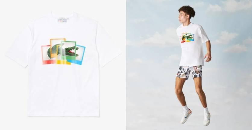 Lacoste Unisex Lacoste LIVE Polaroid collaboration loose fit cotton T-shirt