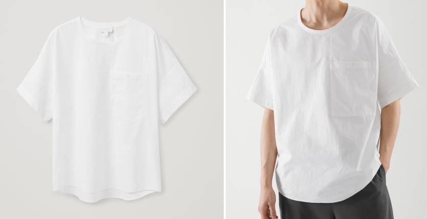 COS Oversized-fit woven T-shirt