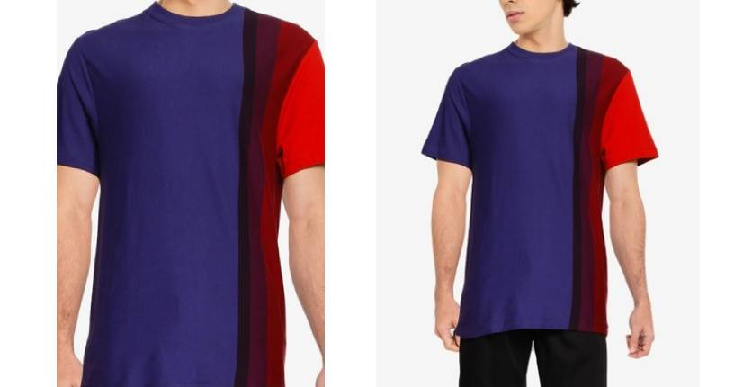 French Connection Gradient stripe short sleeve T-shirt