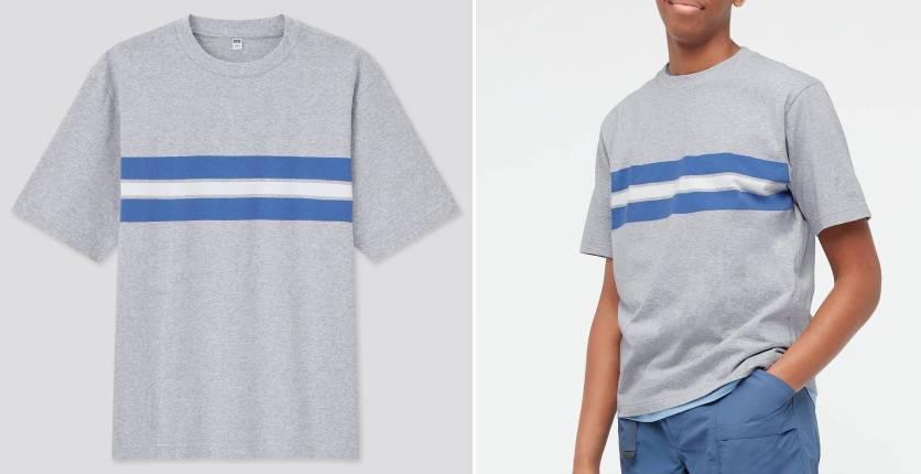 Uniqlo Striped crew neck short sleeve T-shirt