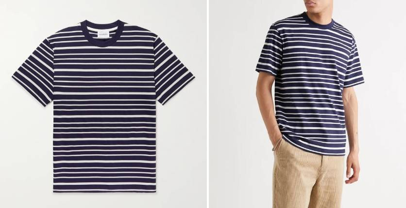Norse Projects Johannes striped cotton-jersey T-shirt