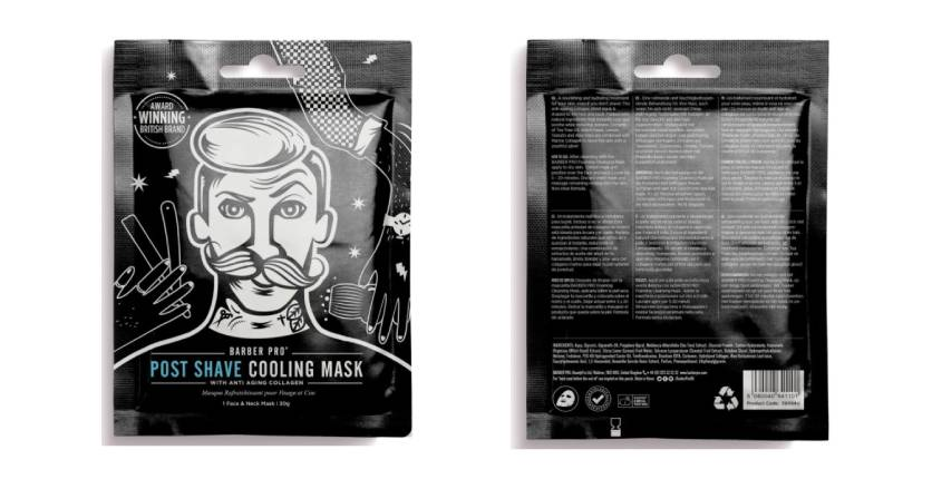 Barber Pro Post Shave Cooling Mask With Anti Aging Collagen