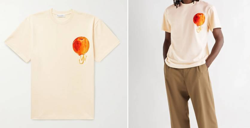 JW Anderson Logo-embroidered printed cotton-jersey T-shirt