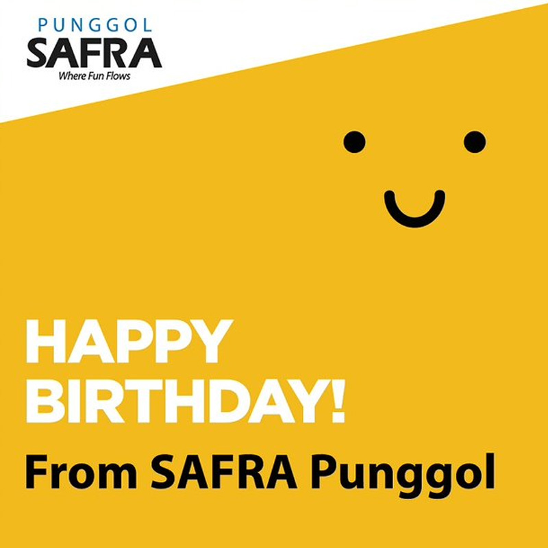 Happy Birthday From SAFRA Punggol! If Your Birthday Is In July, We've Got Something Special For You!