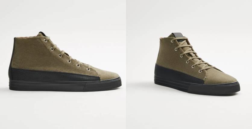 Zara High-top corduroy sneakers