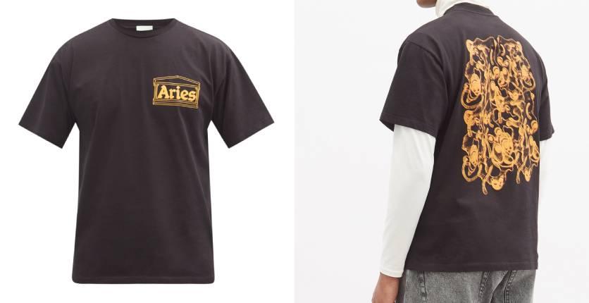 Aries Noodle-print cotton-jersey T-shirt