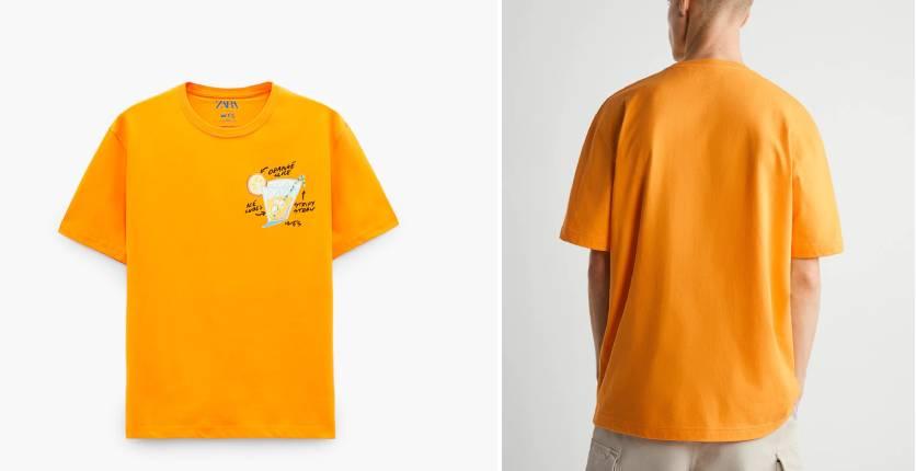 Zara Wes Robinson illustration T-shirt