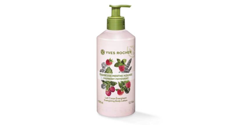 Yves Rocher Energizing Body Lotion – Raspberry Peppermint