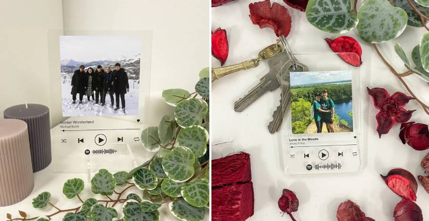The Moments Lab Spotify Acrylic Music Album and Spotify Acrylic Photo Keychain 2