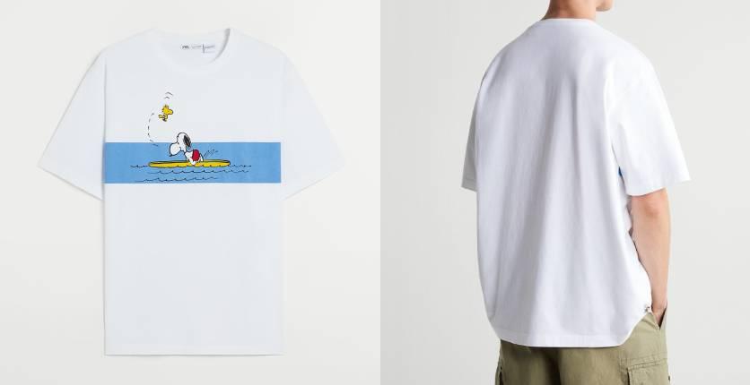Zara Snoopy Peanuts print T-shirt
