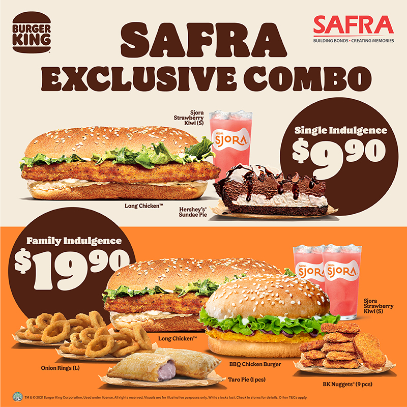 Burger King -Single Indulgence At $9.90 With Any Purchase And More