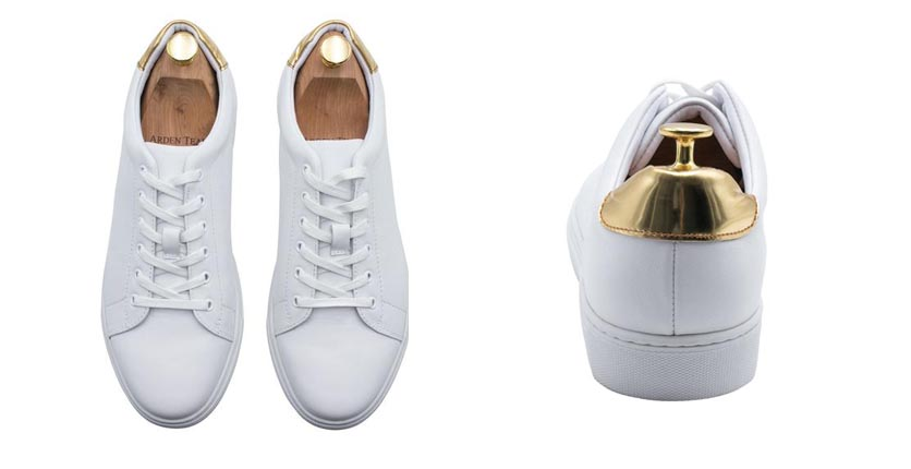 Loreto gold trim sneakers - Arden Teal